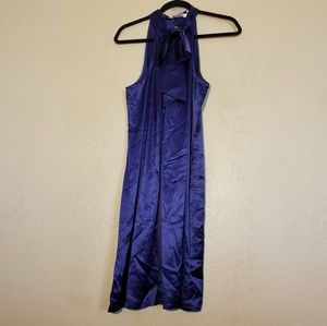 Ann Taylor Loft Navy Silk Dress Size 14P NWOT